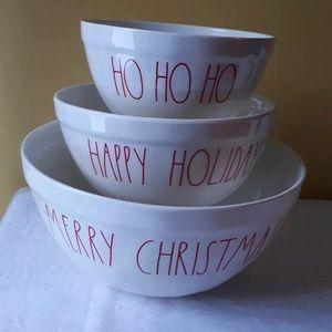 Rae Dunn Christmas Bowls